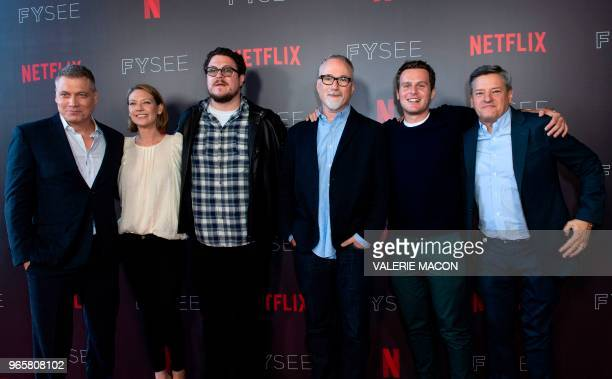 US actor Holt McCallany Australian actress Anna Torv US actor Cameron Britton US Executive Producer and Director David Fincher US actor Jonathan...
