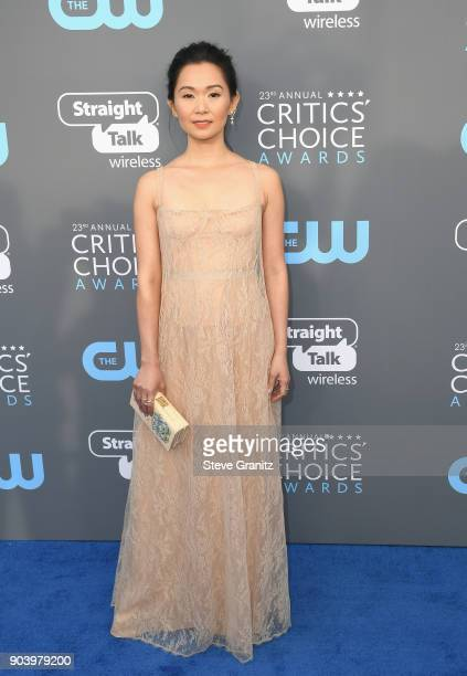 Actor Hong Chau attends The 23rd Annual Critics' Choice Awards at Barker Hangar on January 11 2018 in Santa Monica California