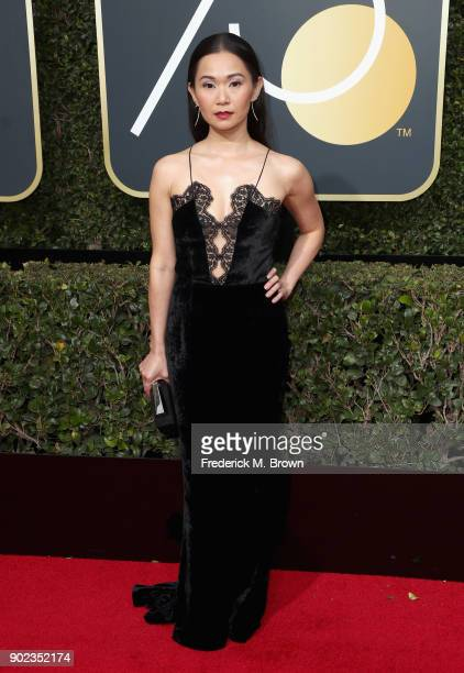 Actor Hong Chau attends The 75th Annual Golden Globe Awards at The Beverly Hilton Hotel on January 7 2018 in Beverly Hills California