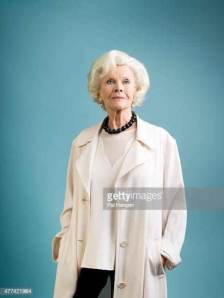 Actor Honor Blackman is photographed for Saga magazine on February 5 2015 in London England