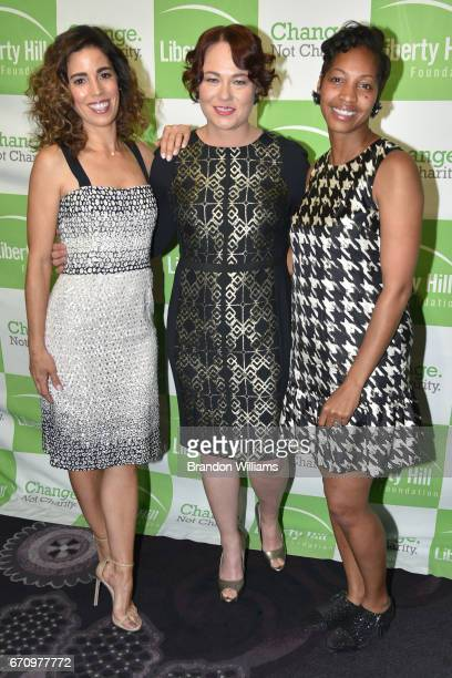 Actor / honoree Ana Ortiz president / CEO of Liberty Hill Foundation Shane Murphy Goldsmith and Board Chair of Liberty Hill Foundation Amelia...