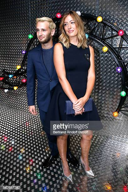 Actor Hopper Jack Penn and Uma von Wittkamp attend the Dior Homme Menswear Spring/Summer 2017 show as part of Paris Fashion Week on June 25 2016 in...