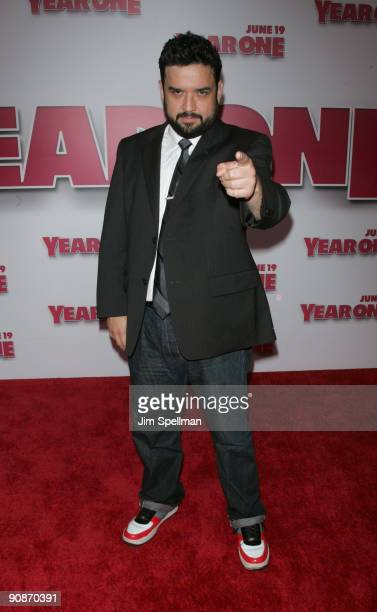 """Actor Horatio Sanz attends the premiere of """"Year One"""" at AMC Lincoln Square on June 15, 2009 in New York City."""