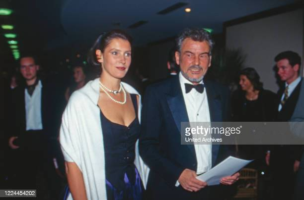 Actor Horst Buchholz with daughter Beatrice at the UFA Filmball in Duesseldorf Germany 1996