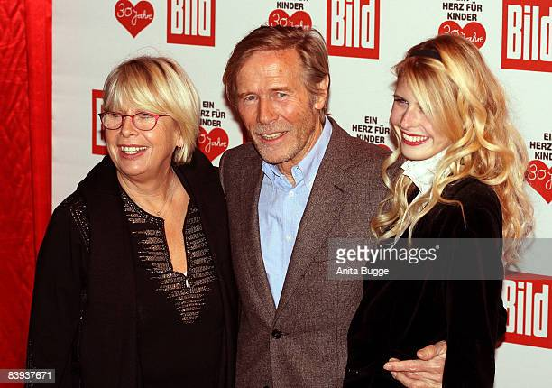 Actor Horst Janson and his wife Hella and daughter Laura attend the Ein Herz fuer Kinder Gala on December 6 2008 in Berlin Germany