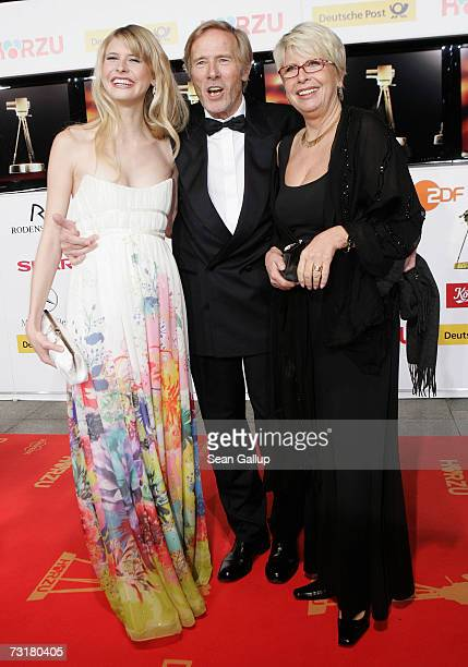 Actor Horst Janson his with wife Hella and daugther Laura attend the 42nd Goldene Kamera Awards February 1 2007 in Berlin Germany
