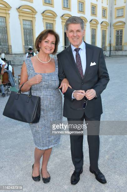 Actor Horst Kummeth and his wife Eva Kummeth during the Summer Reception of the Bavarian State Parliament at Schleissheim Palace on July 16 2019 in...