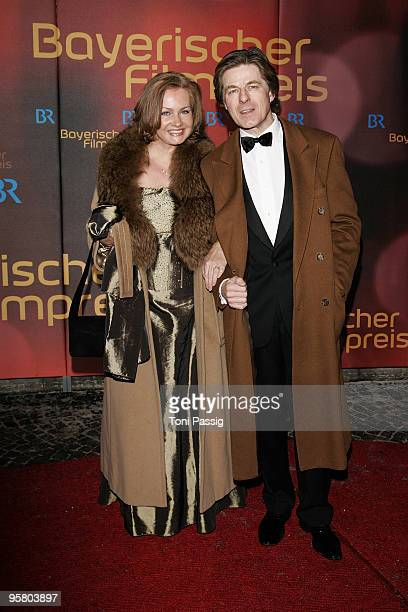 Actor Horst Kummeth and wife Eva attend the Bavarian Movie Award at Prinzregententheater on January 15, 2010 in Munich, Germany.