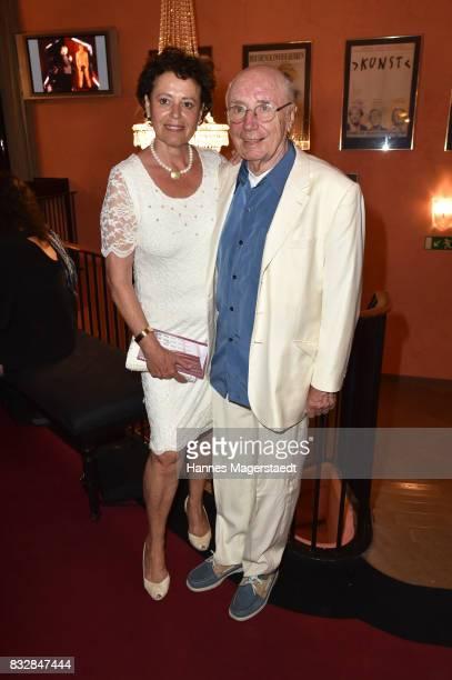 Actor Horst Sachtleben and Pia Haenggi during the 'Aufguss' premiere at Komoedie im Bayerischen Hof on August 16 2017 in Munich Germany