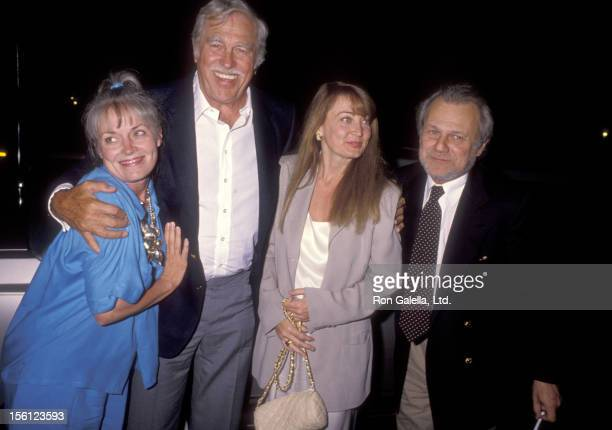Actor Howard Keel and wife Judy Keel and Actor Ken Kercheval and wife Ava Fox attend 'Andrea Marcovicci Opening Night Performance' on September 4...