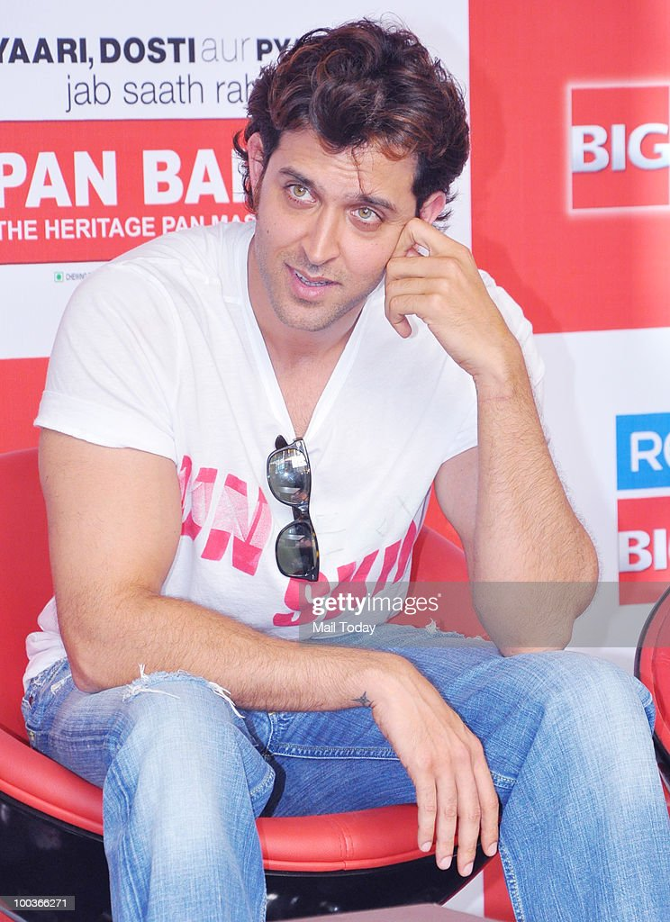 Actor Hrithik Roshan at a promotional event for the film Kites in Mumbai on May 22, 2010.