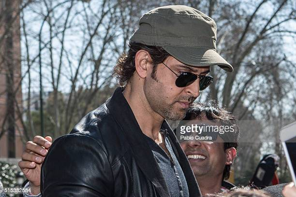Actor Hrithik Roshan attends a Flashmob Bollywood dance on March 13 2016 in Madrid Spain