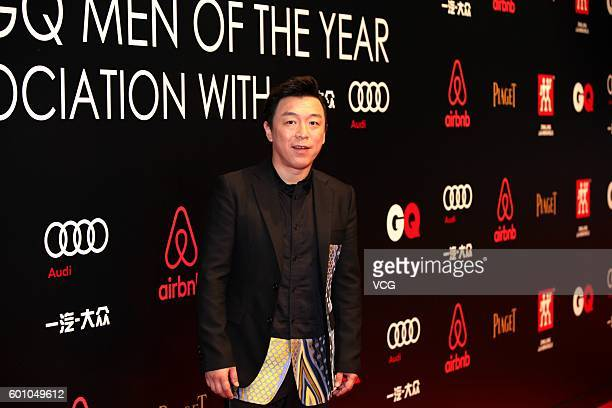 Actor Huang Bo arrives at red carpet of the 2016 GQ Awards on September 8 2016 in Shanghai China