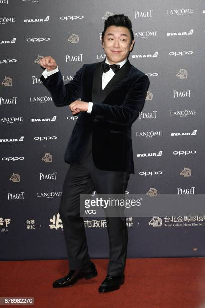 Actor Huang Bo arrives at the red carpet of the 54th Golden Horse Awards Ceremony on November 25 2017 in Taipei Taiwan of China