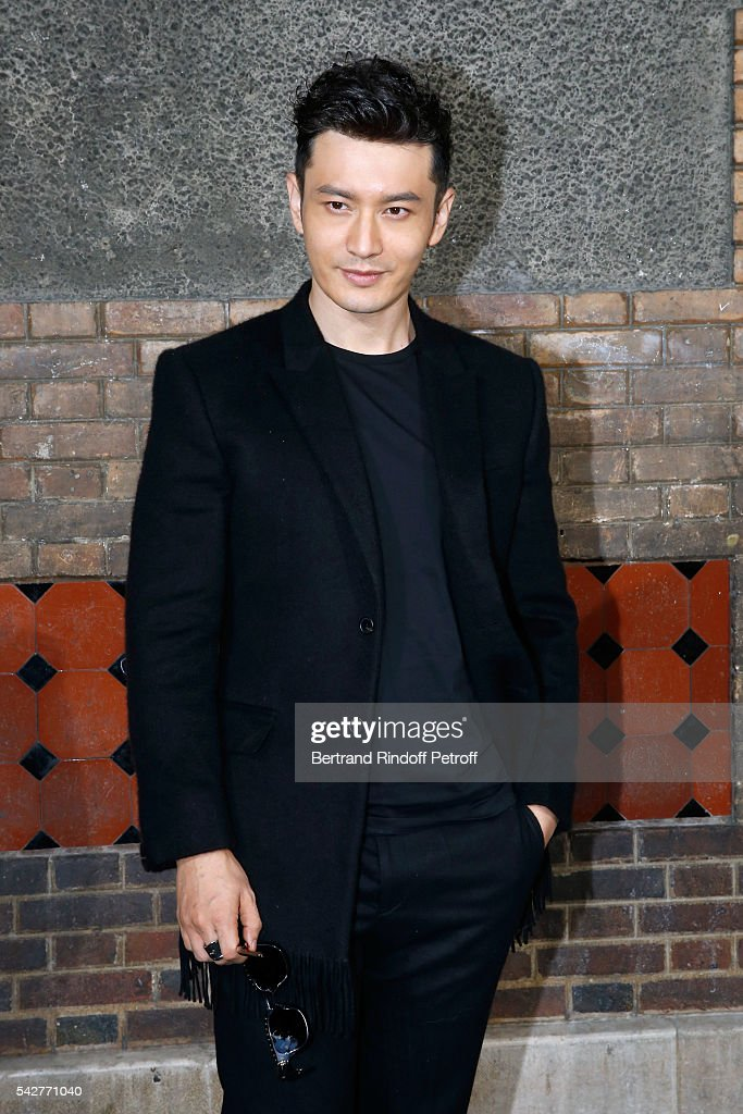 Actor Huang Xiaoming attends the Givenchy Menswear Spring/Summer 2017 show as part of Paris Fashion Week on June 24, 2016 in Paris, France.