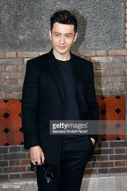 Actor Huang Xiaoming attends the Givenchy Menswear Spring/Summer 2017 show as part of Paris Fashion Week on June 24 2016 in Paris France