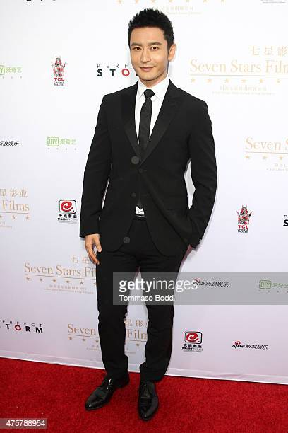 Actor Huang Xiaoming is honored with hand/footprint ceremony during the 88th Birthday Commemoration Of TCL Chinese Theatre IMAX at the TCL Chinese...