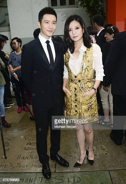 Actor Huang Xlaoming and Actress Zhao Wei pose for portrait at TCL Chinese Theatre on June 3 2015 in Hollywood California
