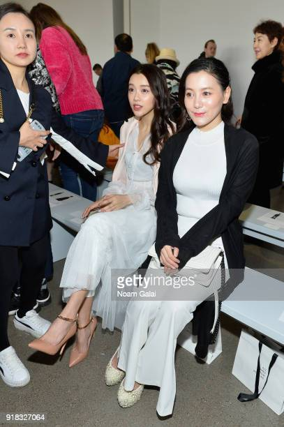 Actor Huang Yilin and Wen Yanxi attend the All Comes From Nothing x COOME FW18 show at Gallery II at Spring Studios on February 14 2018 in New York...