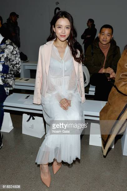 Actor Huang Yilin attends the All Comes From Nothing x COOME FW18 show at Gallery II at Spring Studios on February 14 2018 in New York City