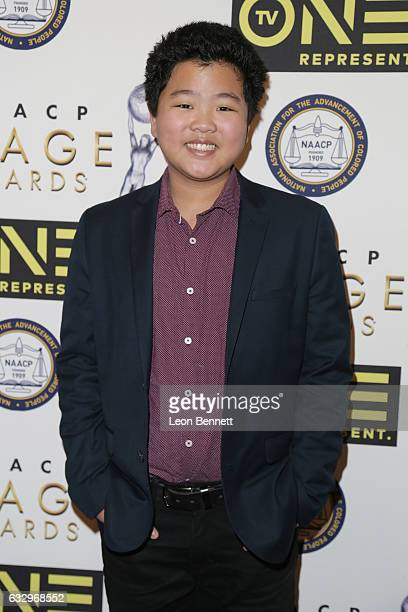 Actor Hudson Yang arrives at the 48th NAACP Image Awards Nominees' Luncheon at Loews Hollywood Hotel on January 28 2017 in Hollywood California