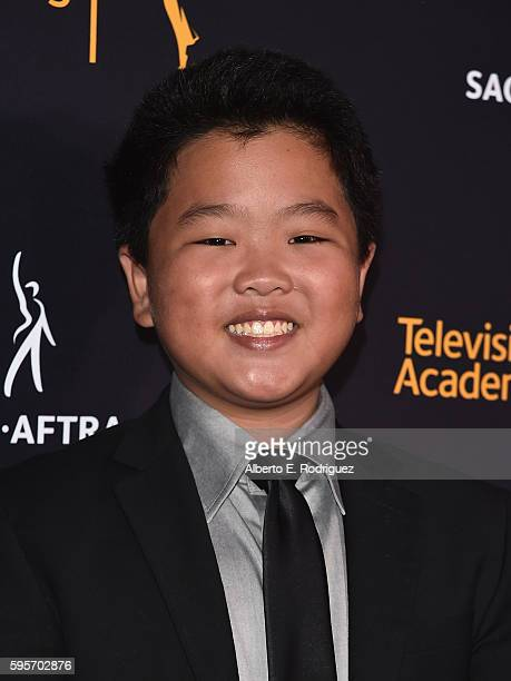 Actor Hudson Yang attends the Television Academy And SAGAFTRA's 4th Annual Dynamic and Diverse Celebration at The Saban Media Center on August 25...