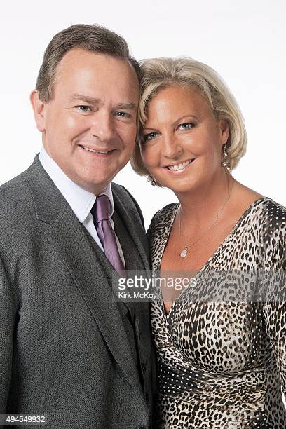 Actor Hugh Bonneville and his wife Lulu Williams are photographed for Los Angeles Times on September 20 2013 in Los Angeles California PUBLISHED...