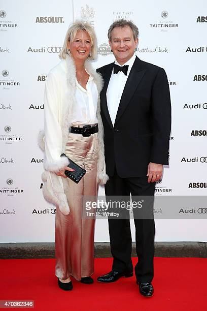 Actor Hugh Bonneville and wife Lulu Williams arrive at The Old Vic Theatre for a gala celebration in honour of Kevin Spacey as the artistic...