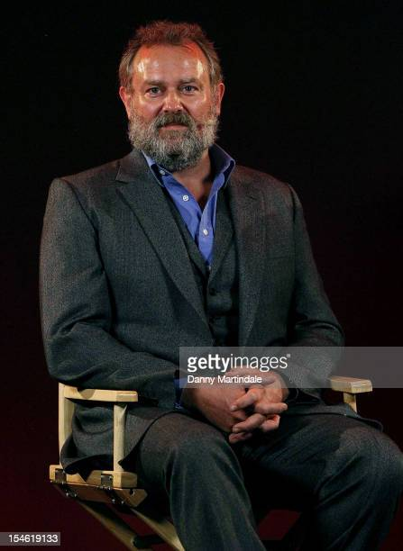 Actor Hugh Bonneville attend Meet The Cast Downton Abbey at Apple Store Regent Street on October 23 2012 in London England