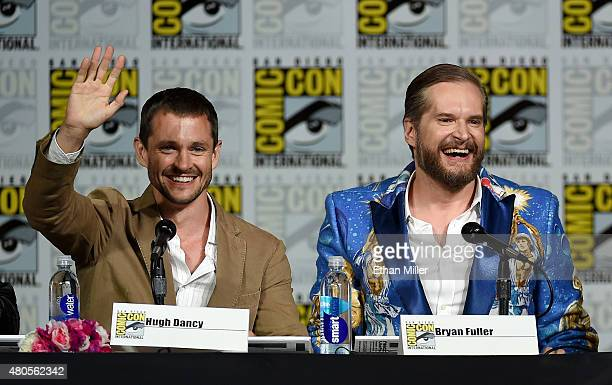 Actor Hugh Dancy and executive producer/creator Bryan Fuller attend the 'Hannibal' Savor the Hunt panel during ComicCon International 2015 at the San...