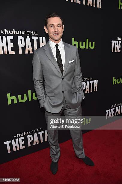 Actor Hugh Dancy arrives during the premiere of Hulu's 'The Path' at ArcLight Hollywood on March 21 2016 in Hollywood California