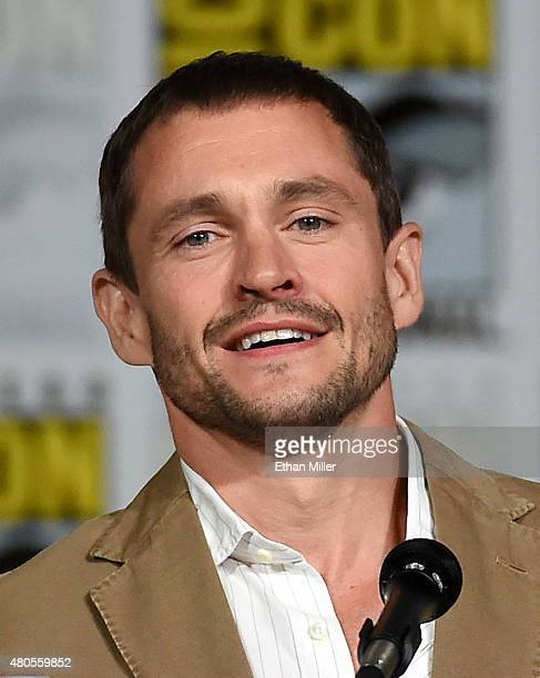 Actor Hugh Dancy attends the 'Hannibal' Savor the Hunt panel during ComicCon International 2015 at the San Diego Convention Center on July 11 2015 in...