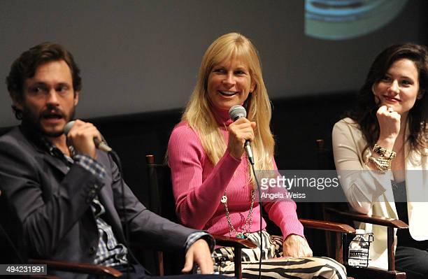 Actor Hugh Dancy producer Martha De Laurentiis and actress Caroline Dhavernas attend the Awardsline/Deadline screening of Gaumont Int'l TV/NBC's...