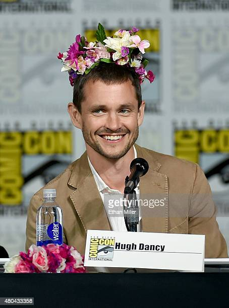 Actor Hugh Dancy speaks onstage at the 'Hannibal' Savor the Hunt panel during ComicCon International 2015 at the San Diego Convention Center on July...