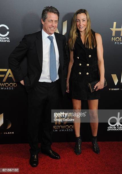 Actor Hugh Grant and Anna Elisabet Eberstein arrive at the 20th Annual Hollywood Film Awards at The Beverly Hilton Hotel on November 6 2016 in Los...