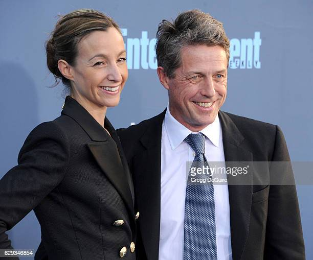Actor Hugh Grant and Anna Elisabet Eberstein arrive at The 22nd Annual Critics' Choice Awards at Barker Hangar on December 11 2016 in Santa Monica...