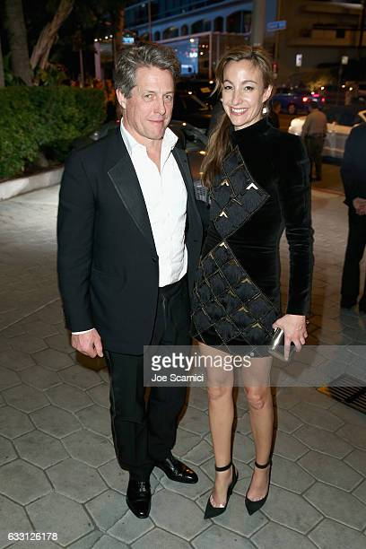 Actor Hugh Grant and Anna Elisabet Eberstein attend The Weinstein Company Netflix's SAG 2017 After Party presented by Audi at Sunset Tower Hotel on...