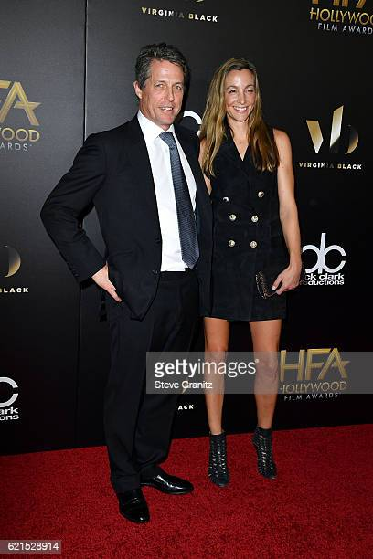 Actor Hugh Grant and producer Anna Elisabet Eberstein attend the 20th Annual Hollywood Film Awards on November 6 2016 in Los Angeles California