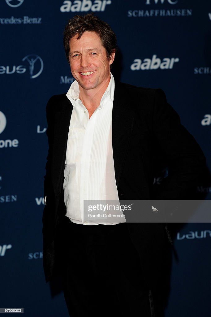 Actor Hugh Grant arrives at the Laureus World Sports Awards 2010 at Emirates Palace Hotel on March 10, 2010 in Abu Dhabi, United Arab Emirates.