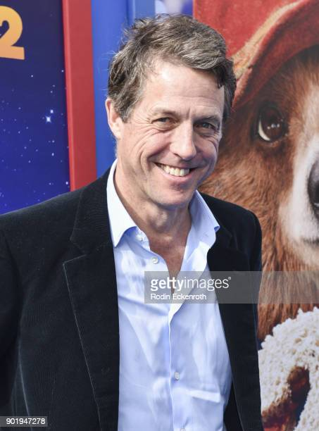 Actor Hugh Grant arrives at the premiere of Warner Bros Pictures' Paddington 2 at Regency Village Theatre on January 6 2018 in Westwood California