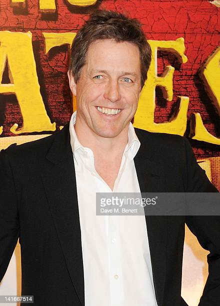 Actor Hugh Grant arrives at the UK Premiere of 'The Pirates In An Adventure With Scientists' at The Mayfair Hotel on March 21 2012 in London England
