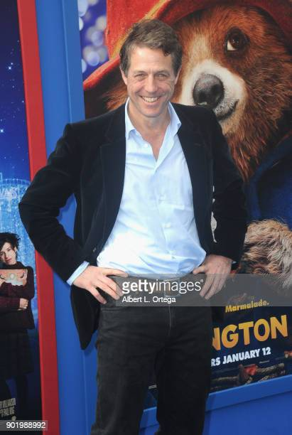 Actor Hugh Grant arrives for the premiere of Warner Bros Pictures' 'Paddington 2' held at Regency Village Theatre on January 6 2018 in Westwood...