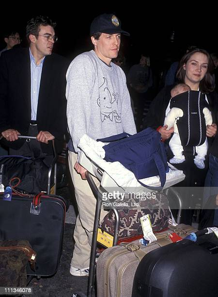 Actor Hugh Grant arrives from London on March 23, 1997 at Los Angeles International Airport in Los Angeles, California.