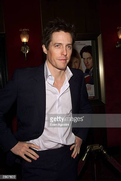 Actor Hugh Grant at the 'Bridget Jones's Diary' film premiere at the the Ziegfeld Theater in New York City Photo Evan Agostini/Getty Images