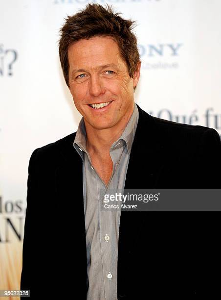 """Actor Hugh Grant attends """"Did you Hear About the Morgan"""" photocall at the Villa Magna Hotel on January 7, 2010 in Madrid, Spain."""