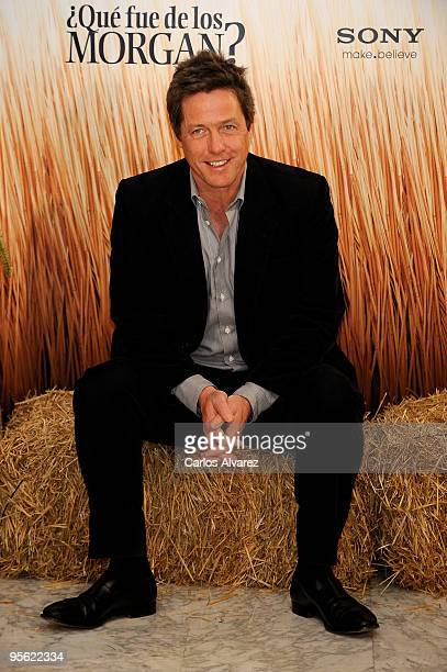 Actor Hugh Grant attends 'Did you Hear About the Morgan' photocall at the Villa Magna Hotel on January 7 2010 in Madrid Spain