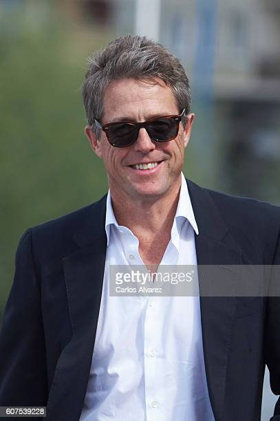 Actor Hugh Grant attends 'Florence Foster Jenkins' photocall during 64th San Sebastian Film Festival at Kursaal Palace on September 18 2016 in San...
