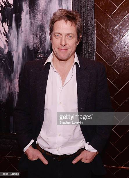 Actor Hugh Grant attends the after party for a special screening of 'The Rewrite' hosted by The Cinema Society and Brooks Brothers at The Jimmy at...