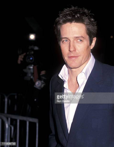 Actor Hugh Grant attends the Bridget Jones's Diary New York City Premiere on April 2 2001 at the Ziegfeld Theater in New York City