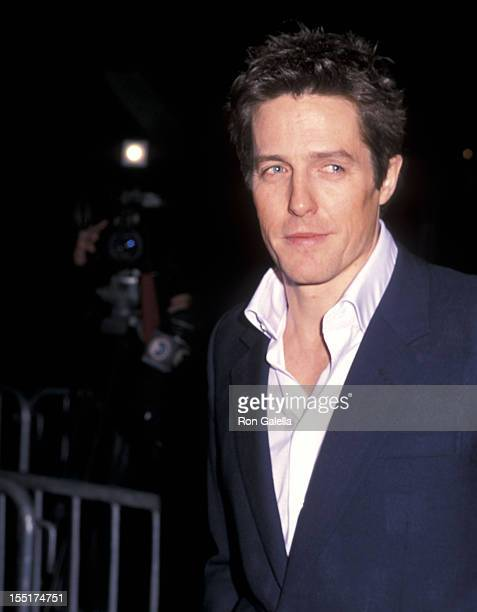 "Actor Hugh Grant attends the ""Bridget Jones's Diary"" New York City Premiere on April 2, 2001 at the Ziegfeld Theater in New York City."
